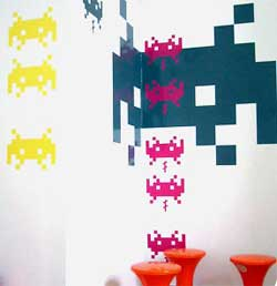 sticker space invaders