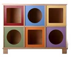 rangement design via toy box